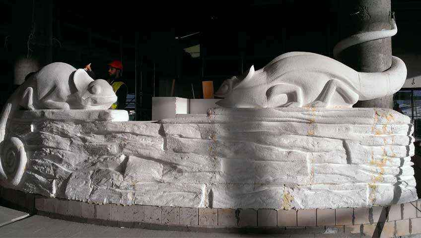 podbudowa styropianowa sztucznych skał