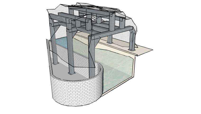 projekt konstrukcji sztucznej groty