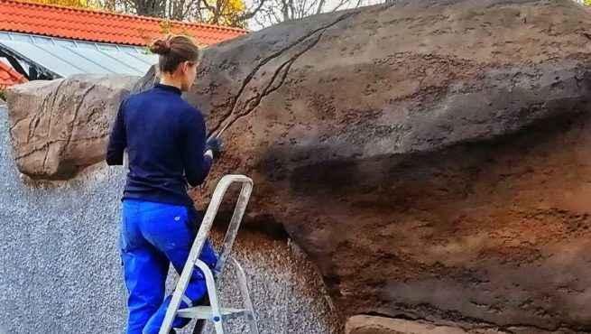 rzeźnienie sztucznej skały wybieg wydry europejskiej